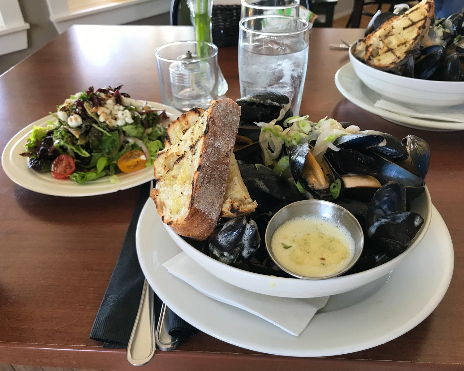 PEI Food - Mussels at 21 Breakwater Photo Heatheronhertravels.com