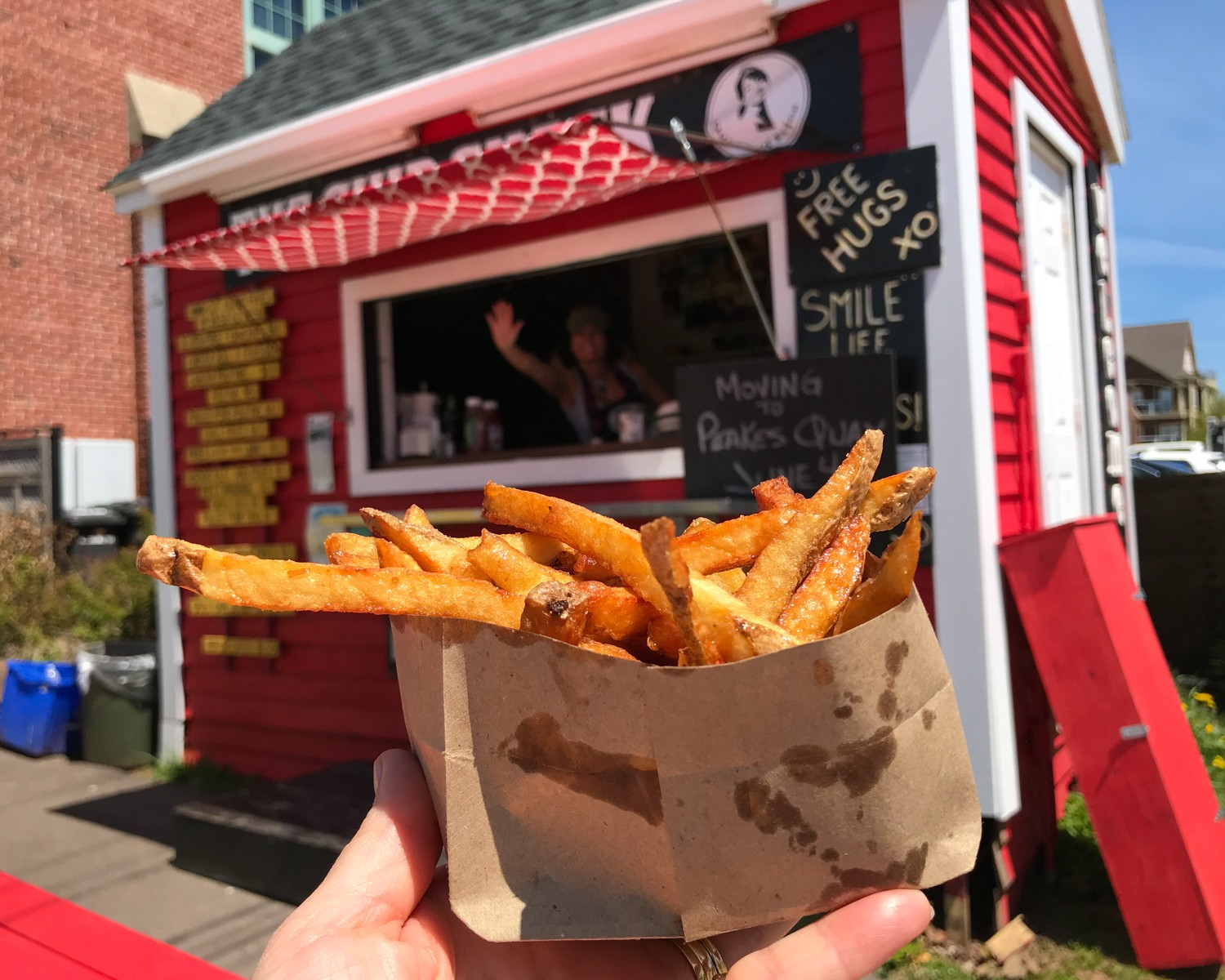 PEI Food - The Chip Shack in Charlottetown Photo Heatheronhertravels.com