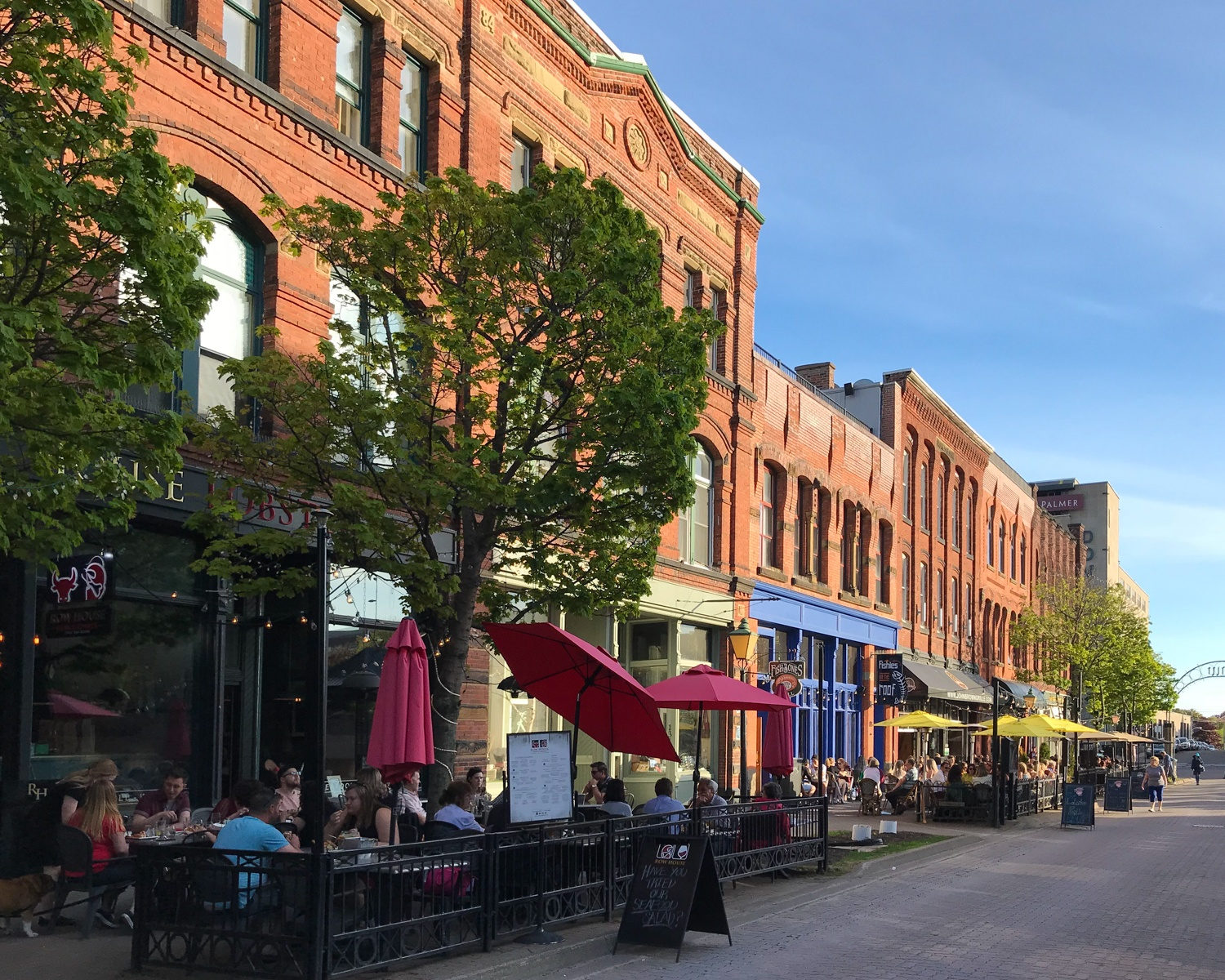 PEI Food - Victoria Row in Charlottetown Photo Heatheronhertravels.com