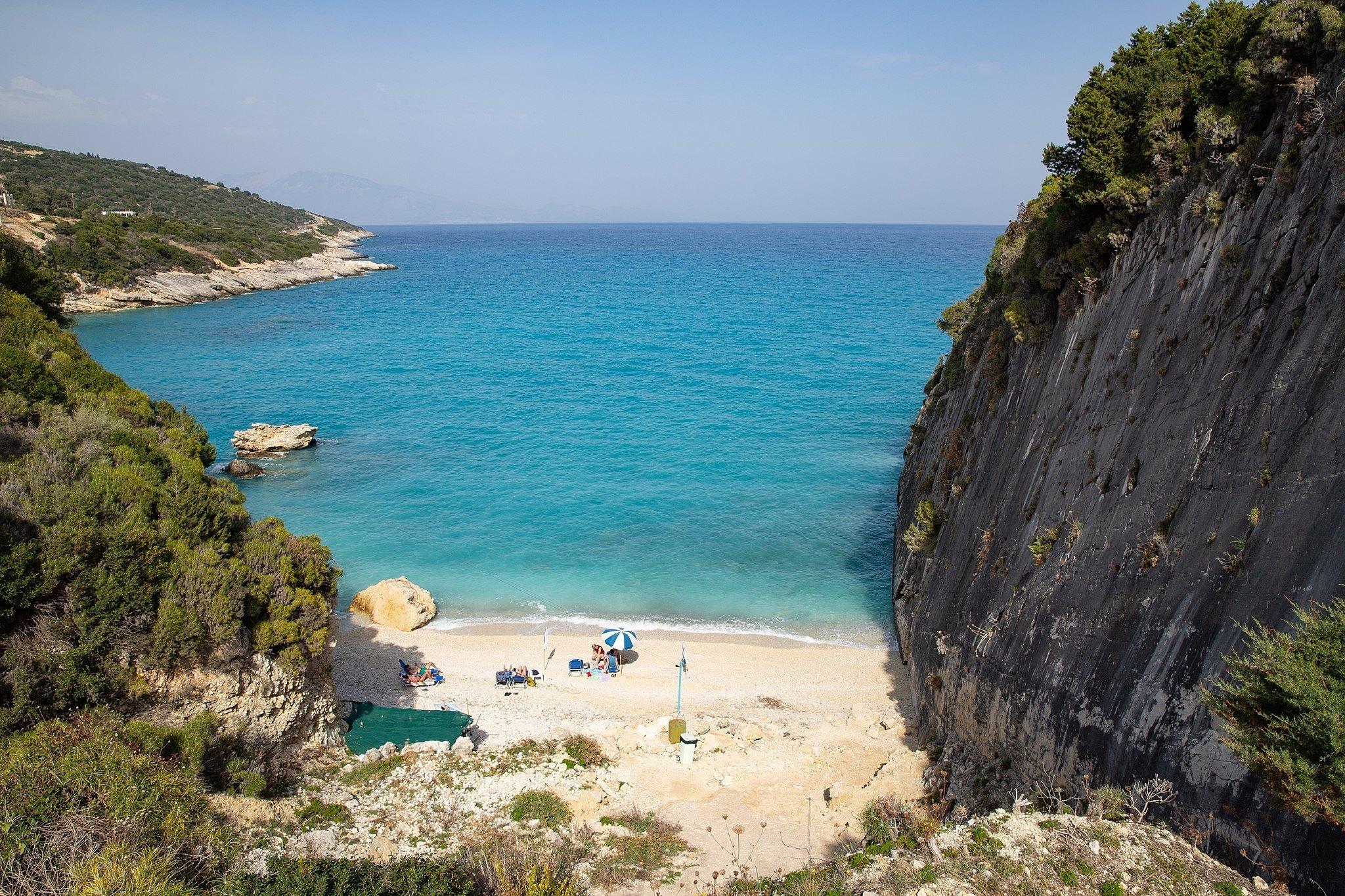 Xigia beach in Zakynthos
