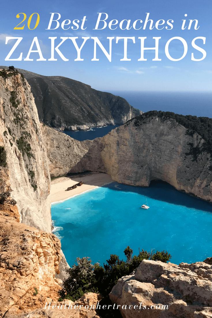 Best beaches in Zakynthos Greece
