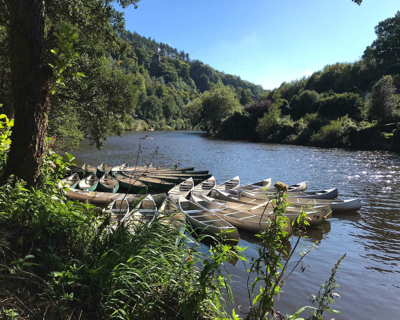 Canoes at Symond Yat, Wye Valley Photo Heatheronhertravels.com