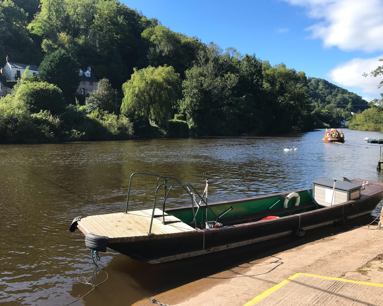 Hand drawn ferry at Symond Yat, Wye Valley Photo Heatheronhertravels.com