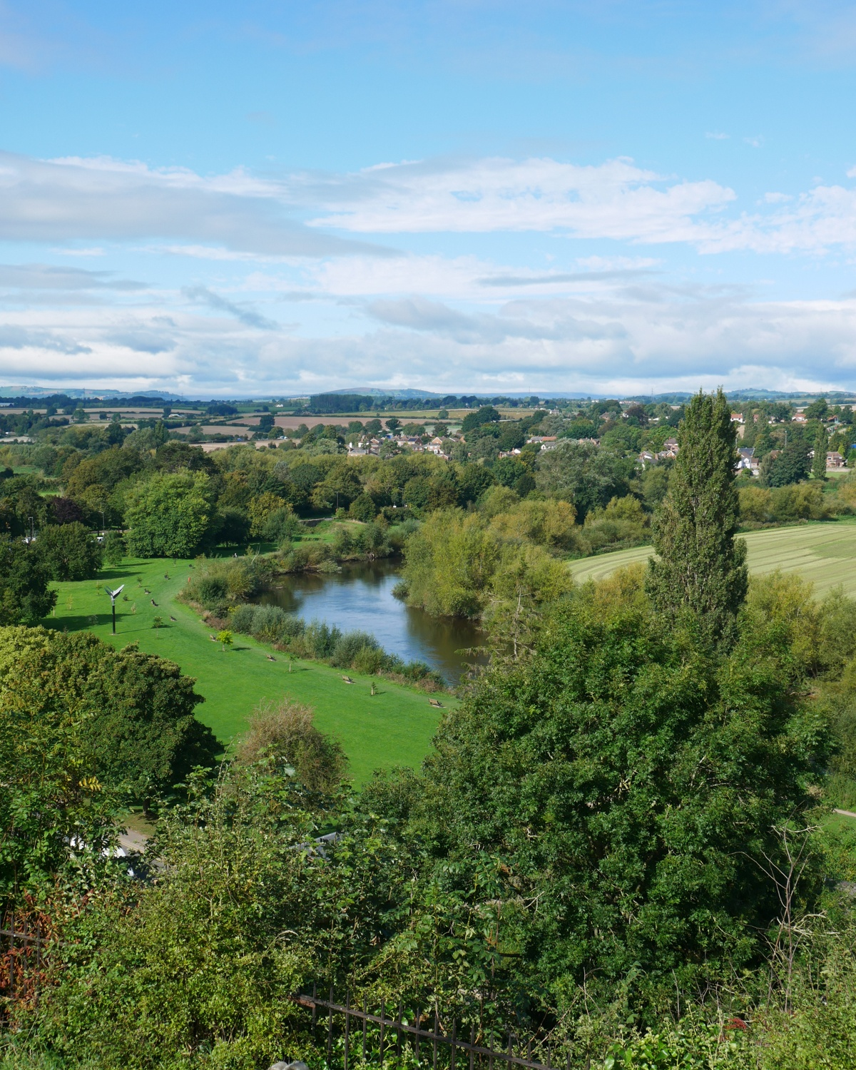 View from the Prospect in Ross on Wye Photo Heatheronhertravels.com