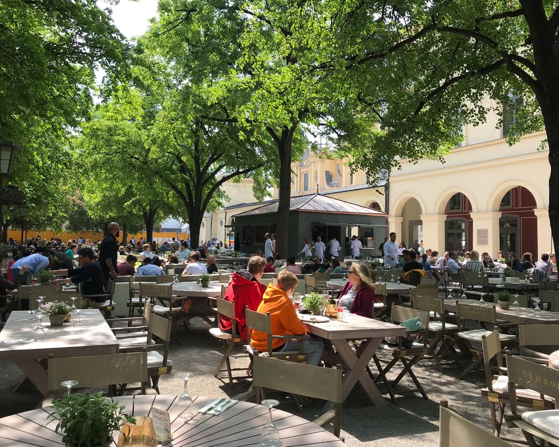 Hofgarten terrace in Munich, Germany Photo Heatheronhertravels.com