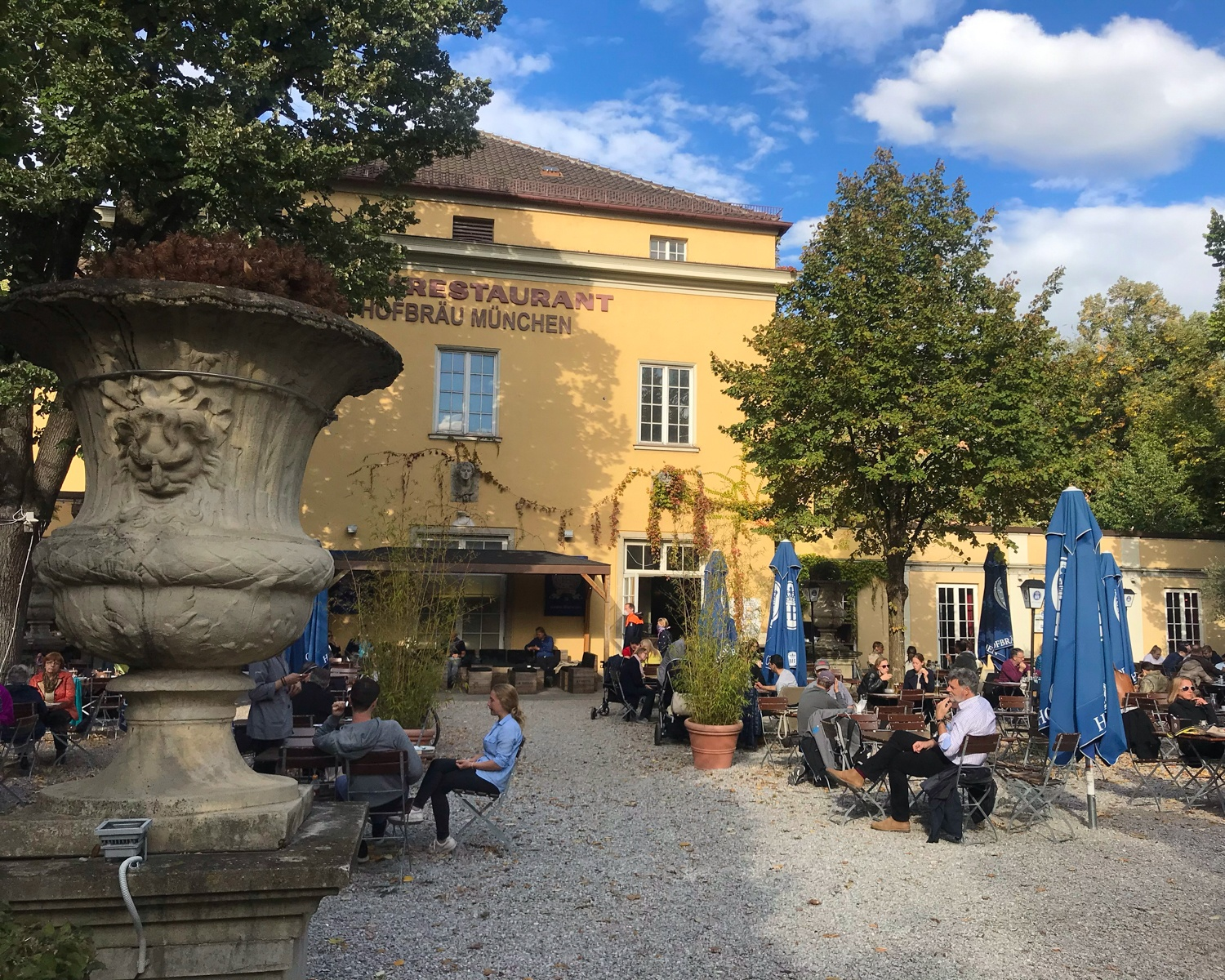 Park cafe in Munich, Germany