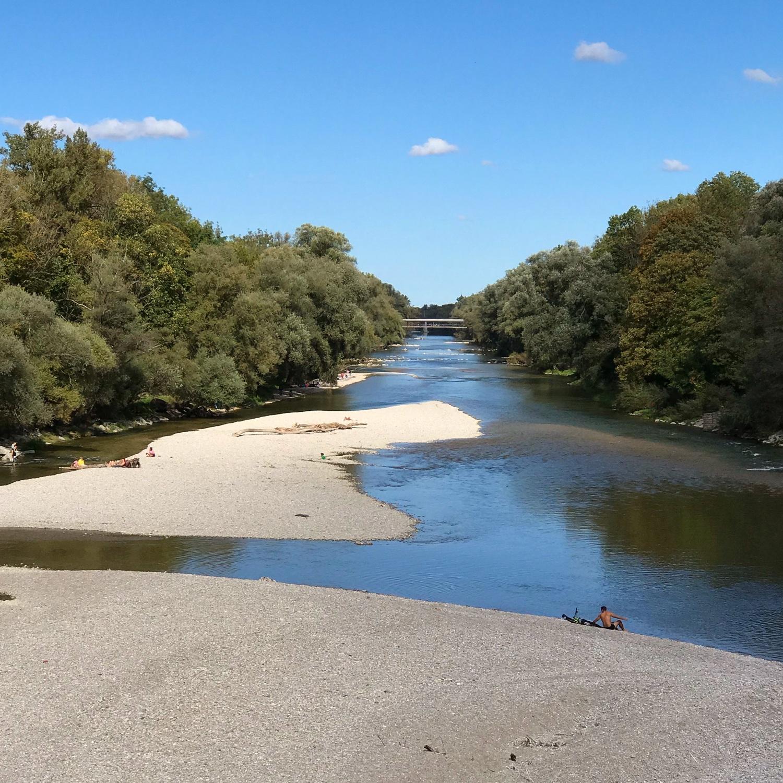 River Isar in English Garden in Munich, Germany Photo Heatheronhertravels.com