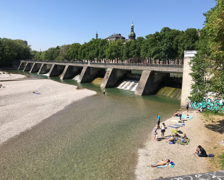 River Isar in Munich, Germany Photo Heatheronhertravels.com