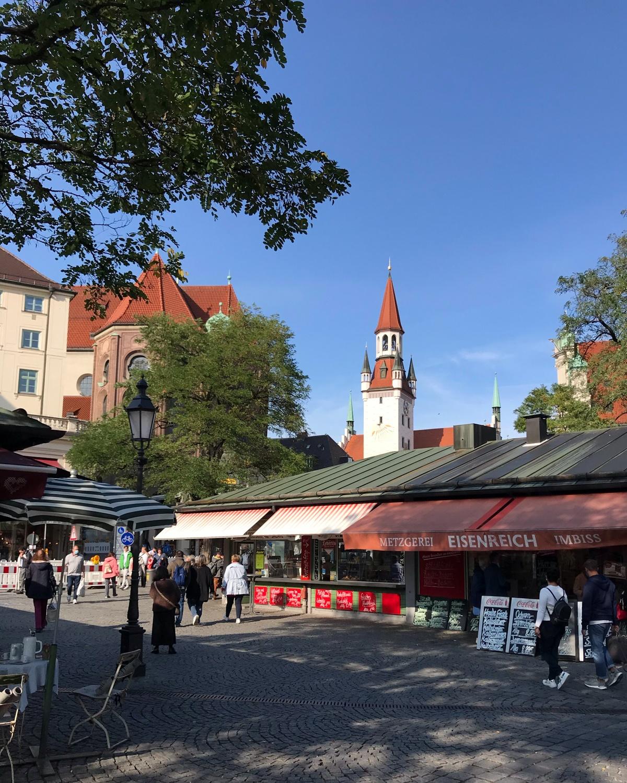 Viktualienmarkt in Munich, Germany Photo Heatheronhertravels.com