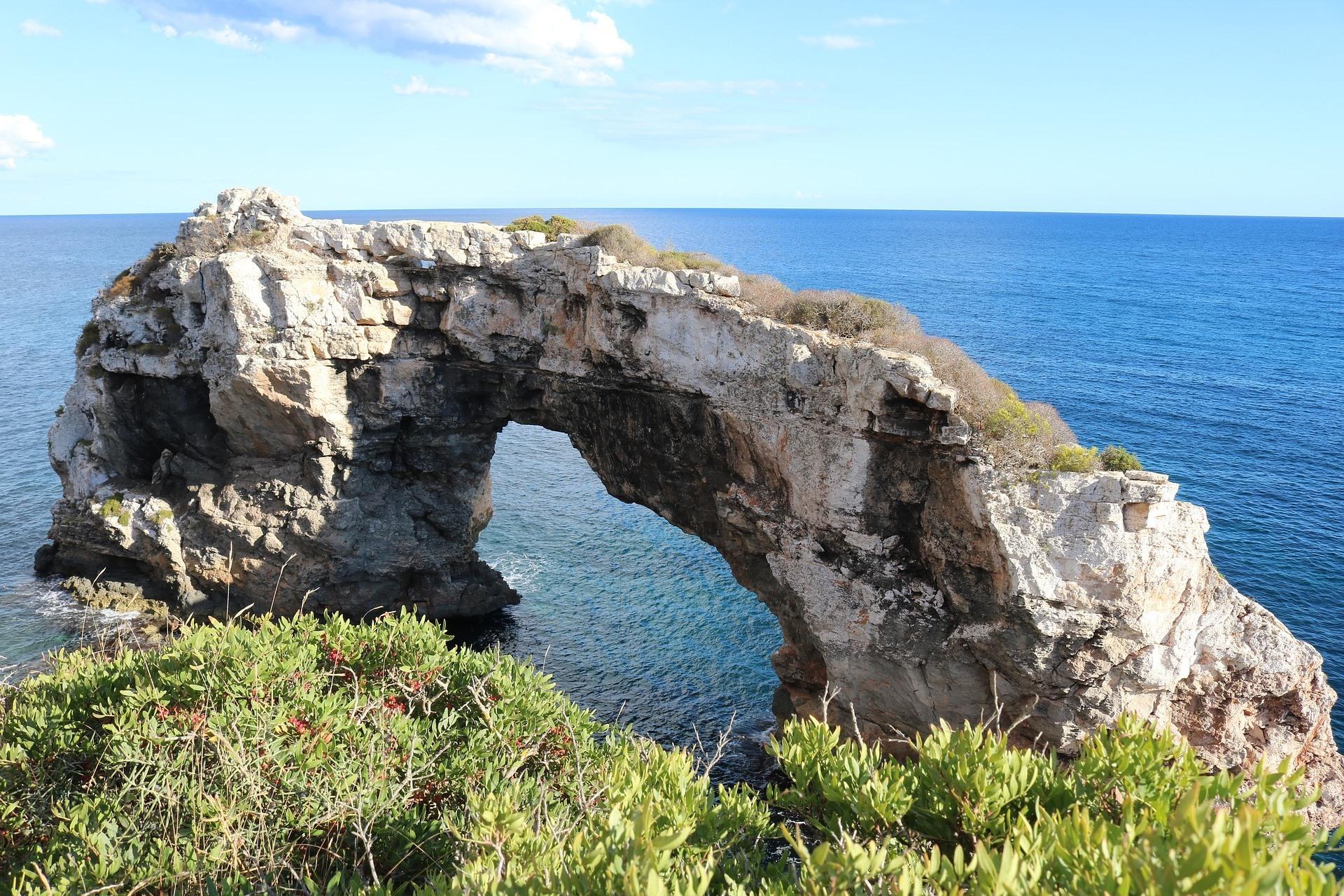 Es Pontas rock arch in Mallorca Photo Nicole Pankalla Pixabay
