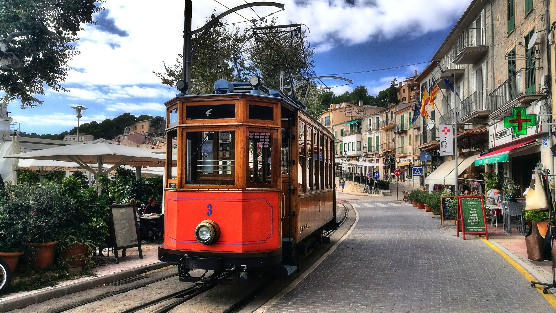 Old tram in Port de Soller Mallorca Photo Christian B on Pixabay