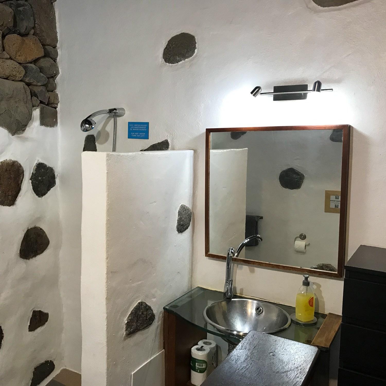 Bathroom at Eco casita - Finca de Arrieta with Lanzarote Retreats Photo: Heatheronhertravels.com