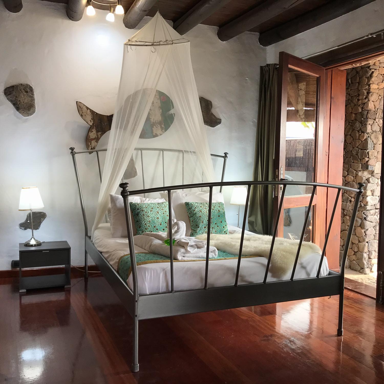 Bedroom at Eco Casita - Finca de Arrieta with Lanzarote Retreats Photo: Heatheronhertravels.com