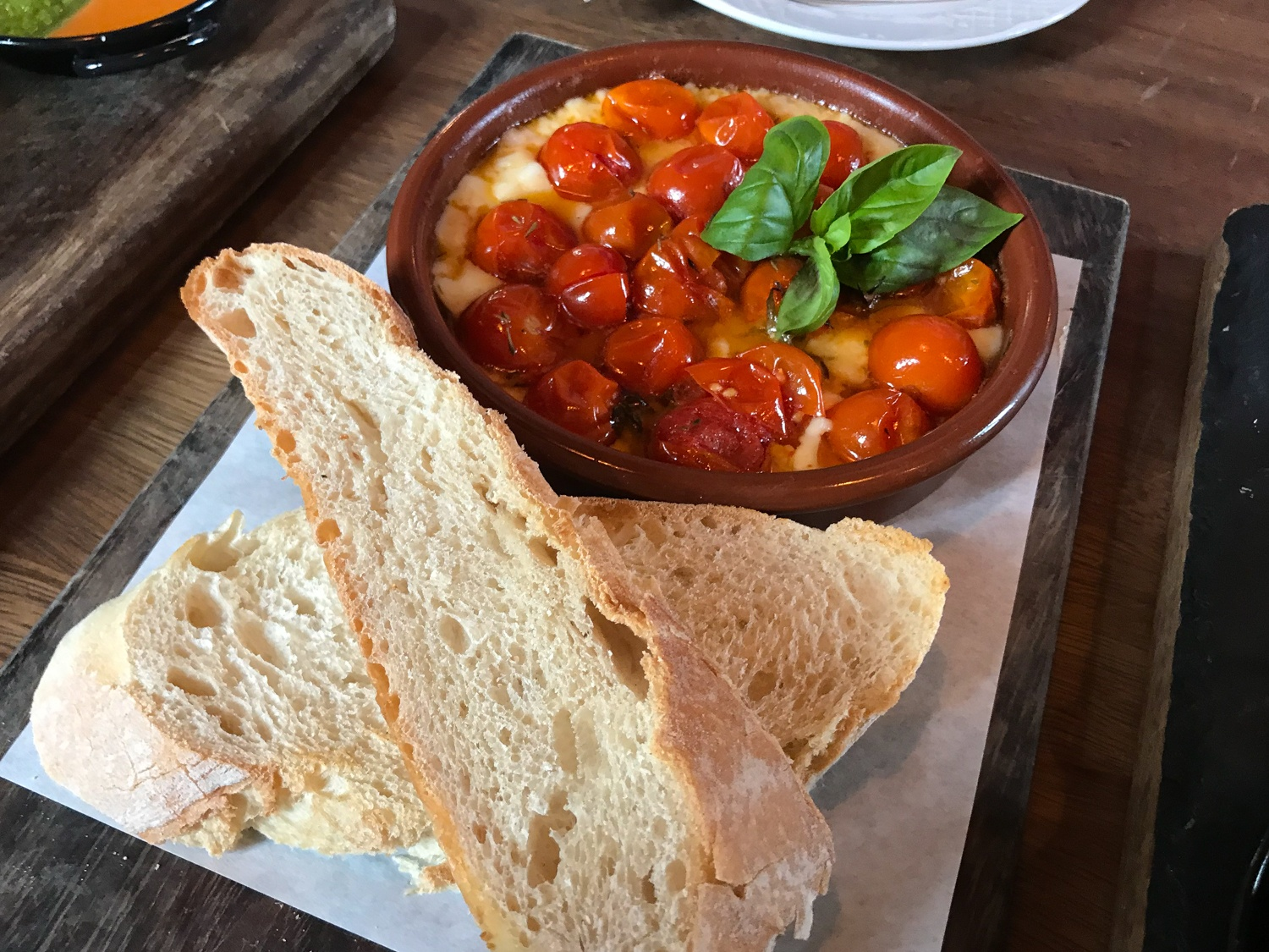 Cherry tomatoes and goats cheese at Cantina Teguise Photo Heatheronhertravels.com