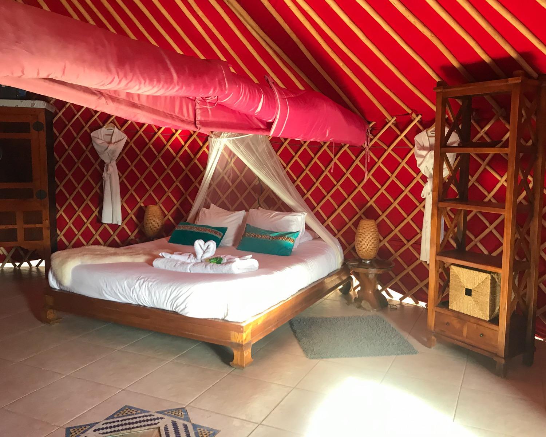 Eco yurt royale at Finca de Arrieta with Lanzarote Retreats Photo: Heatheronhertravels.com