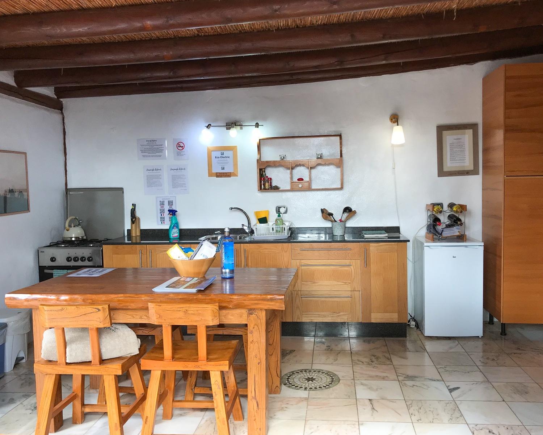 Kitchen at Eco Casita - Finca de Arrieta with Lanzarote Retreats Photo: Heatheronhertravels.com