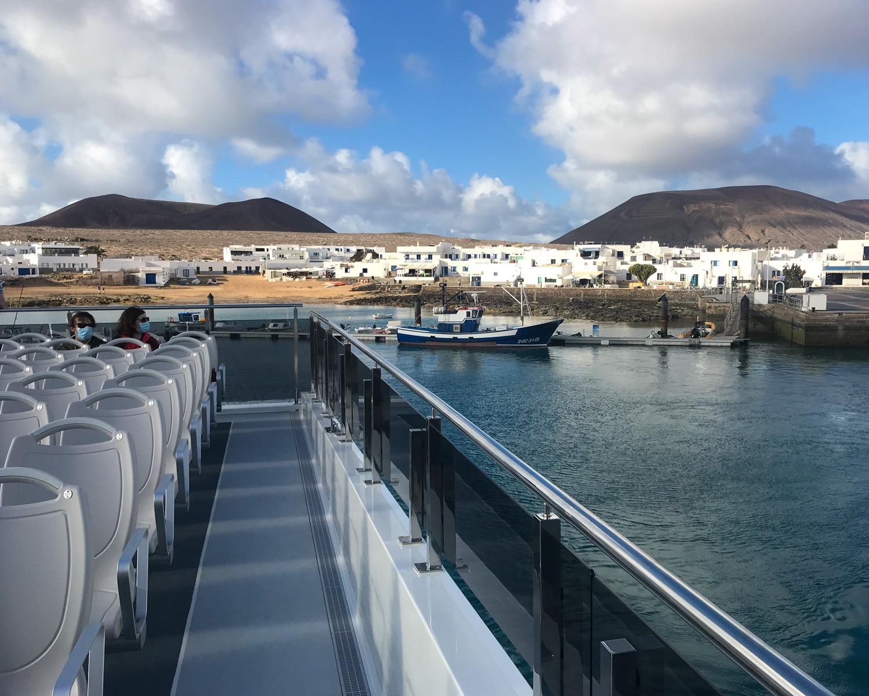 Lineas Romero ferry - Graciosa day trip from Lanzarote Photo Heatheronhertravels.com
