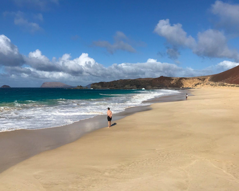 Playa de las Conchas - Graciosa day trip from Lanzarote Photo Heatheronhertravels.com