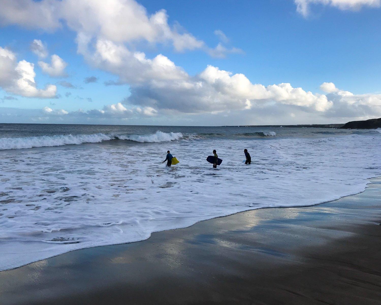 Surfers at Playa la Garita Lanzarote Photo Heatheronhertravels.com