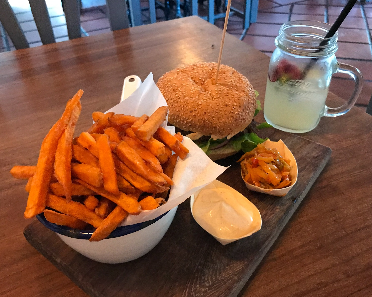 Sweet potatoes and pulled pork at Cantina Teguise in Lanzarote Photo Heatheronhertravels.com