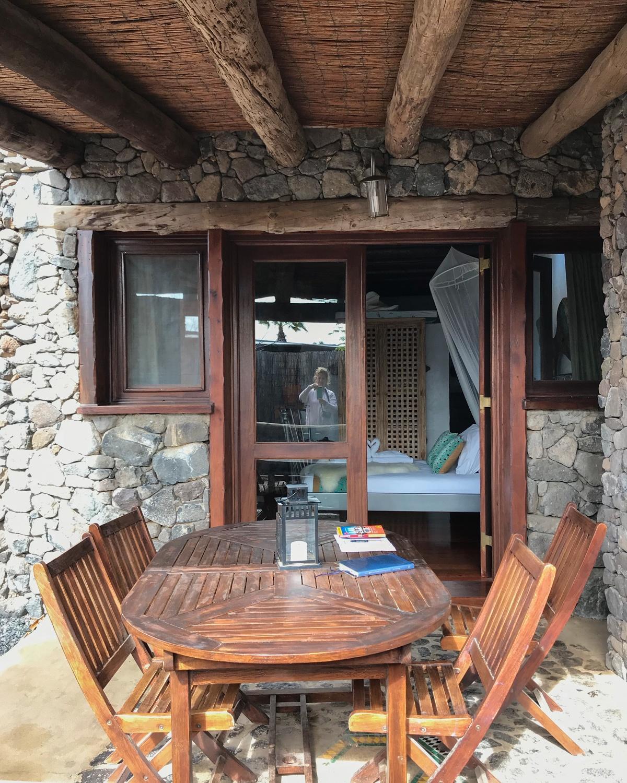 Terrace at Eco Casita - Finca de Arrieta with Lanzarote Retreats Photo: Heatheronhertravels.com