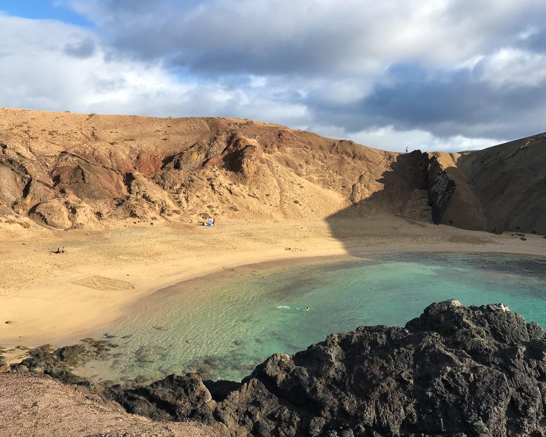 Playa de Papagayo in Lanzarote Photo Heatheronhertravels.com