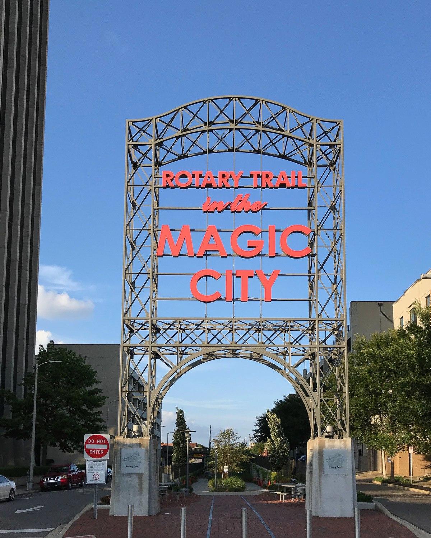 Magic City sign, Birmingham, Alabama Photo: Heatheronhertravels.com