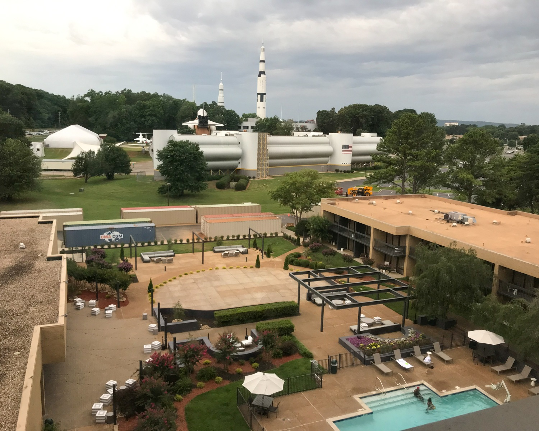 View from Marriott Huntsville Rocket Center Photo: Heatheronhertravels.com