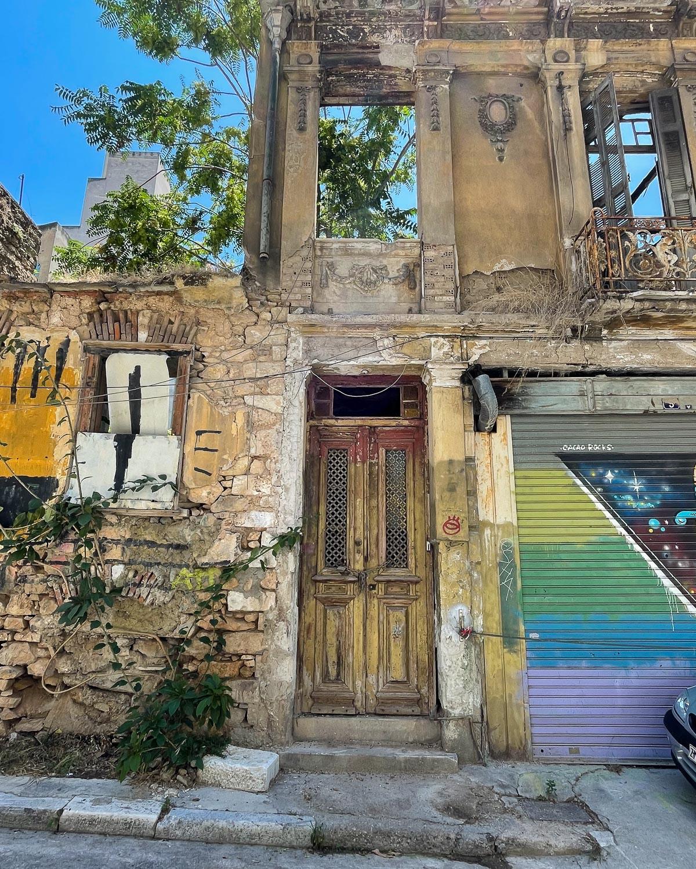 Abandoned house in Psyri Athens Photo Heatheronhertravels.com