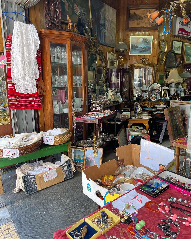 Antique shop near the Central Market in Athens Photo Heatheronhertravels.com
