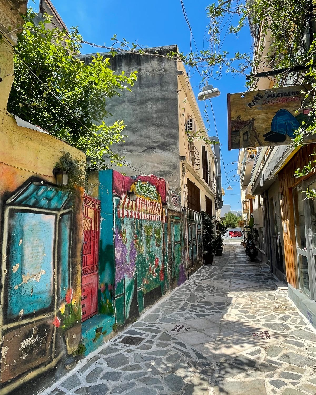 Cafes on Sofroniou in Gazi Athens Photo: Heatheronhertravels.com