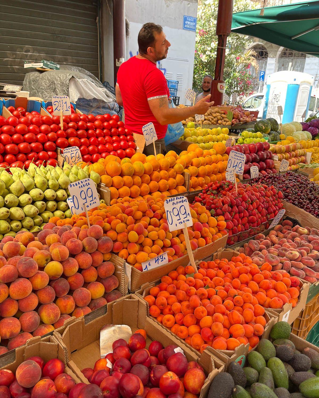 Fruit at the Central Market Athens Photo Heatheronhertravels.com