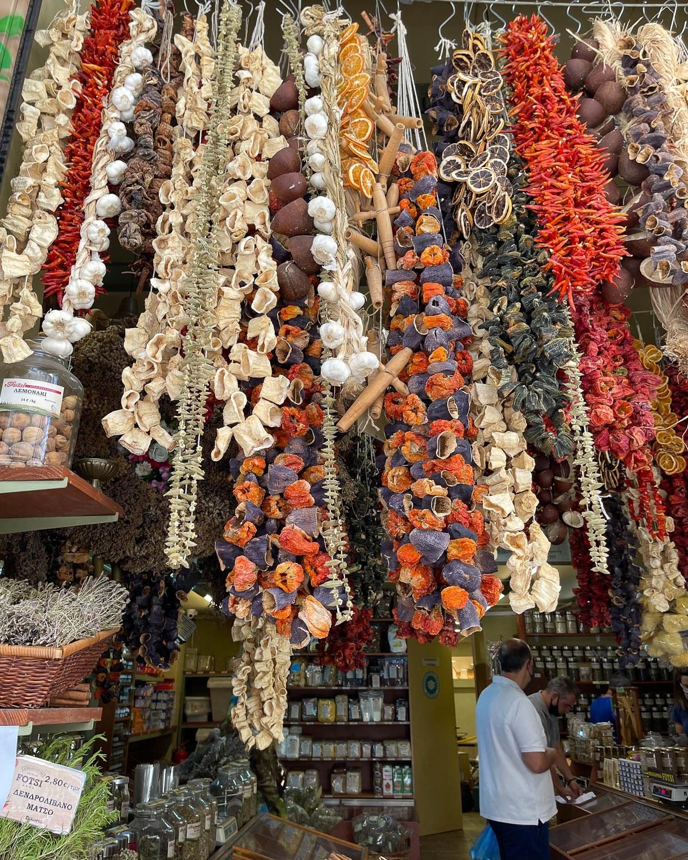 Spices on Evripidou in Psiri Photo Heatheronhertravels.com