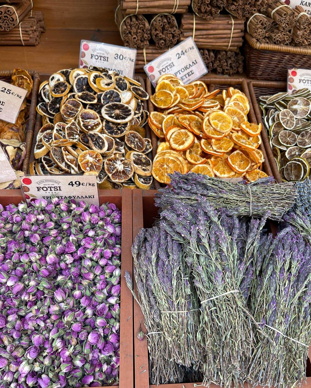 Herbs on Evripidou in Psiri Photo Heatheronhertravels.com
