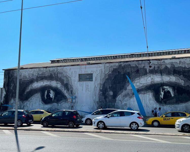 Mona Lisa eyes by INO in Gazi, Athens Photo: Heatheronhertravels.com