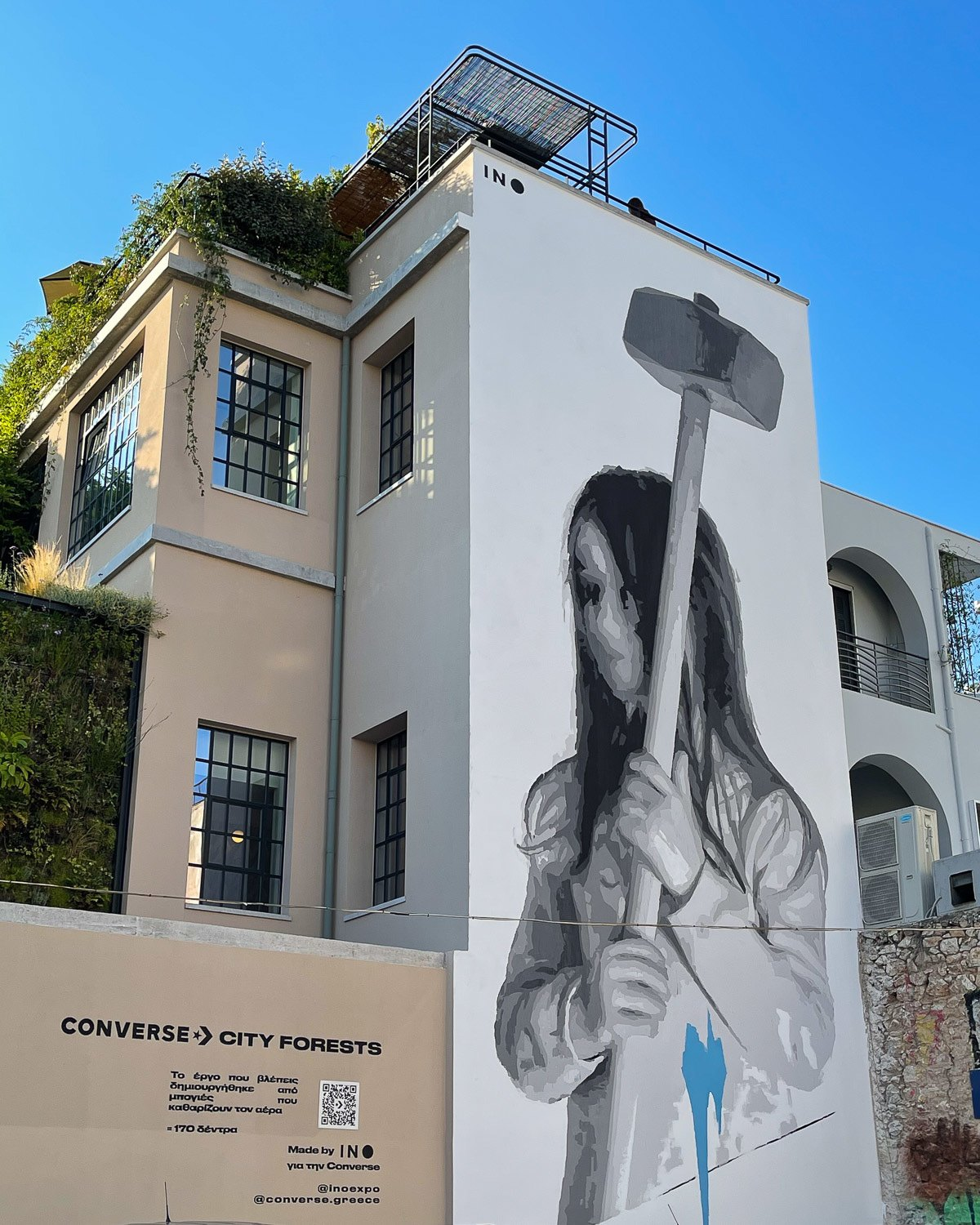 Mural by INO at The Foundry Athens Photo Heatheronhertravels.com
