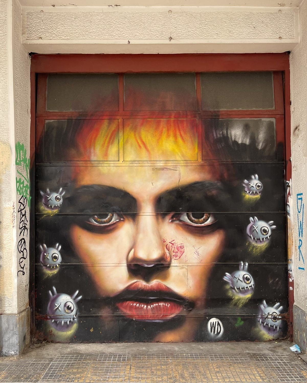 Mural by Wild Drawing on Sarri in Psiri Athens Photo Heatheronhertravels.com