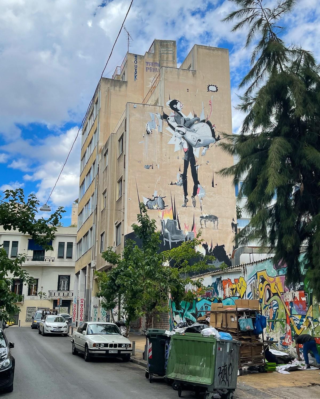 Mural in Psiri Athens Photo Heatheronhertravels.com