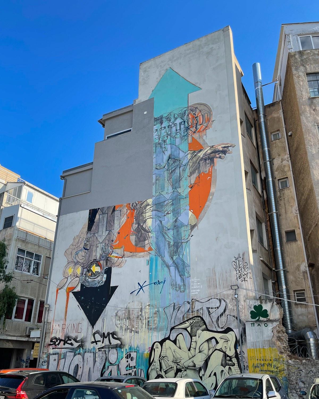 Mural in Psiri Athens by Paparazzi Art Studio Photo Heatheronhertravels.com