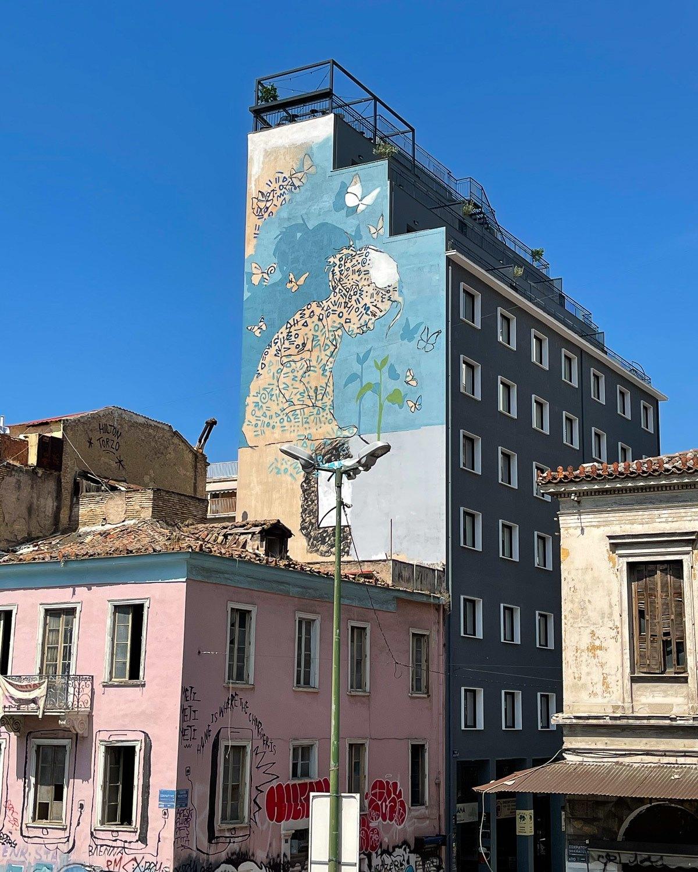 Mural near Central Market Athens Photo Heatheronhertravels.com