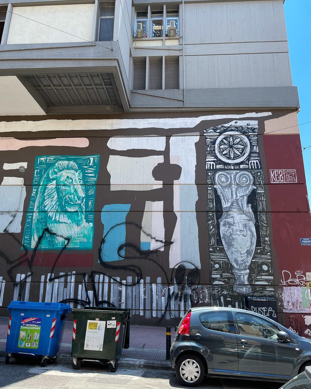 Murals by Kez in Metaxourgeio Photo Heatheronhertravels.com