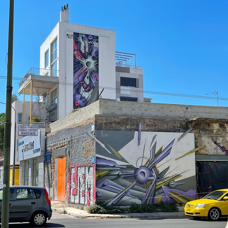 Murals in Aiva in Gazi Athens - Photo Heatheronhertravels.com