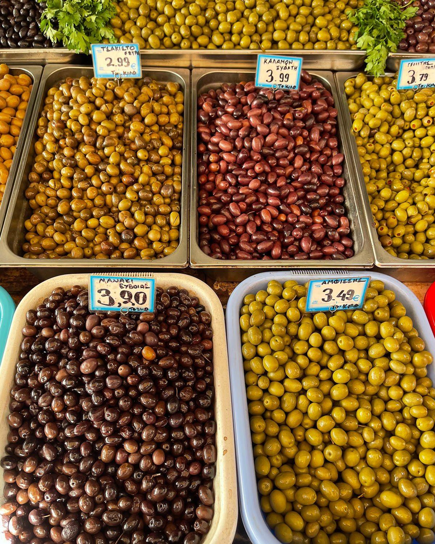 Olives at the Central Market Athens Photo Heatheronhertravels.com