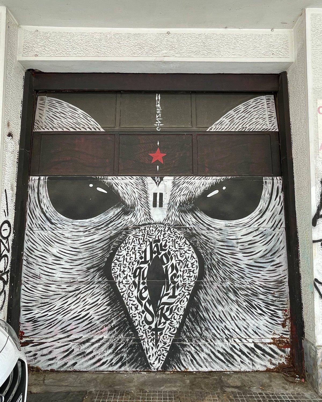 Owl mural by Blaqk in Psiri Athens Photo Heatheronhertravels.com