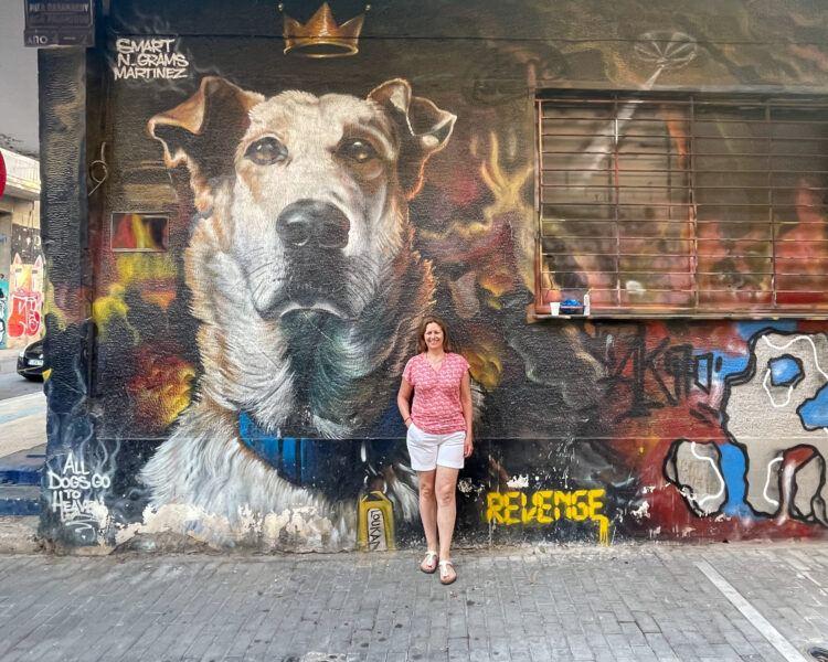 Riot Dog Mural in Psiri Athens Photo Heatheronhertravels.com
