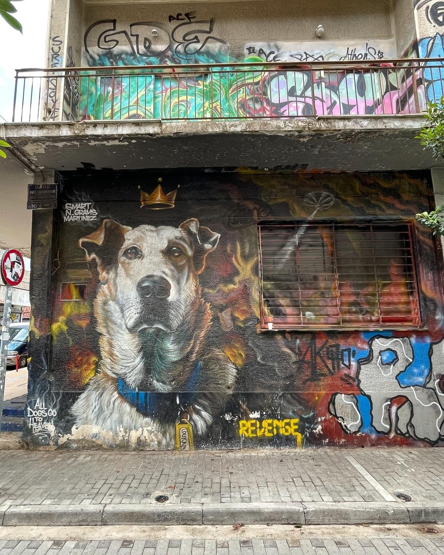 Riot Dog in Psiri Athens Photo: Heatheronhertravels.com
