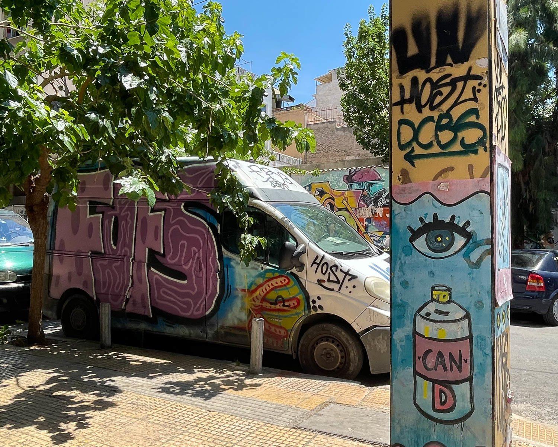Street art Vans in Metaxourgeio Athens Photo Heatheronhertravels.com
