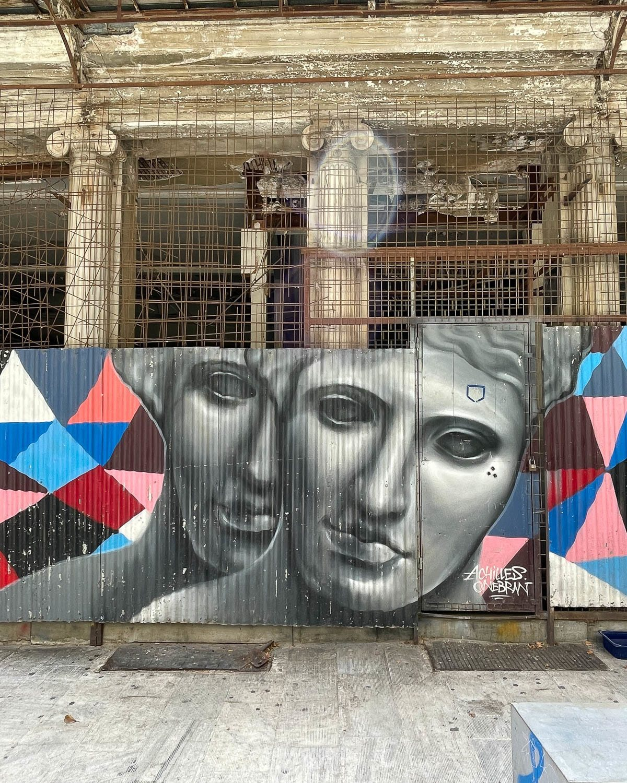 Streetart by Achilles and Onebran on Aiolou Street, Athens Photo Heatheronhertravels.com